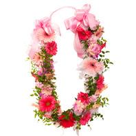 축하행사용 꽃목걸이