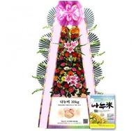 축하쌀화환10KG-화환형
